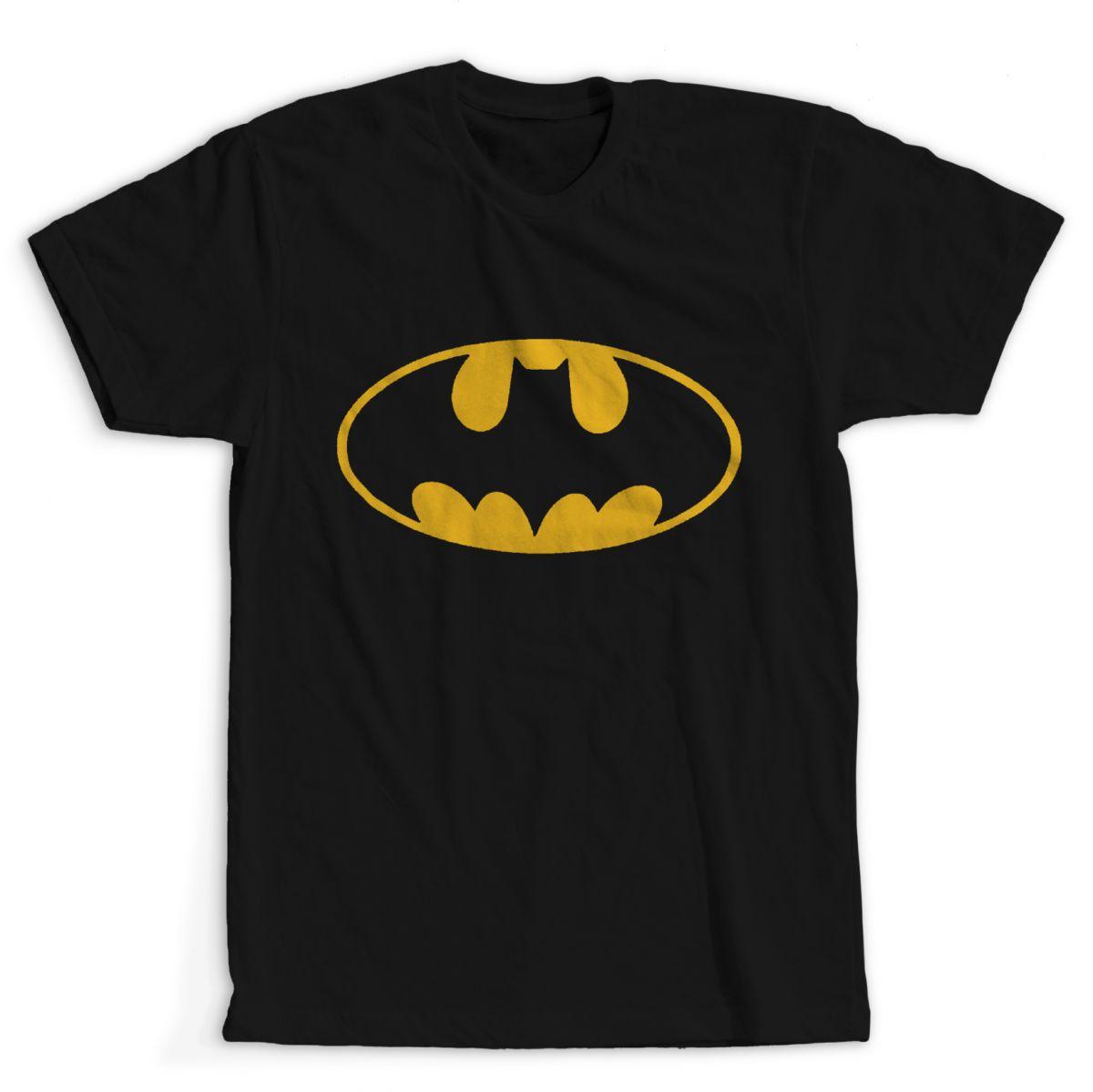 Camiseta Batman Simbolo Na Road Rock