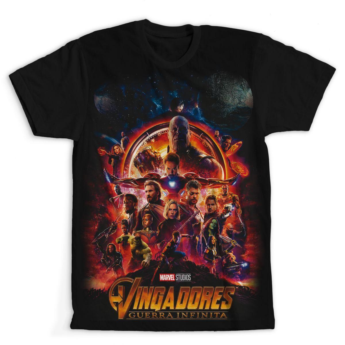 Camiseta Vingadores- Guerra Infinita